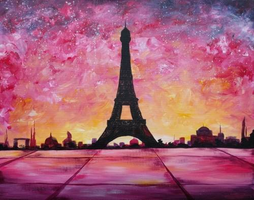 A Paris Sunset III paint nite project by Yaymaker
