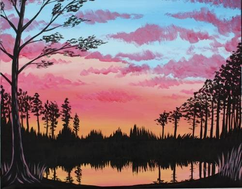 A Reflection on the Pond paint nite project by Yaymaker