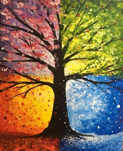 A Hot Cold Wet and Falling paint nite project by Yaymaker