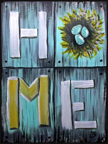 A HOME paint nite project by Yaymaker