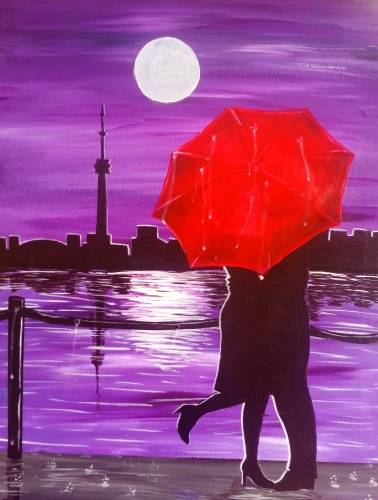 A Purple Rain in Toronto paint nite project by Yaymaker