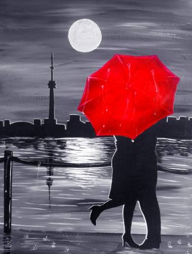 A Passion Rain in Toronto paint nite project by Yaymaker