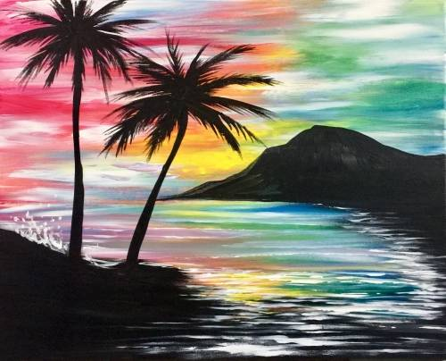 A Mahalo Vacation Bliss paint nite project by Yaymaker