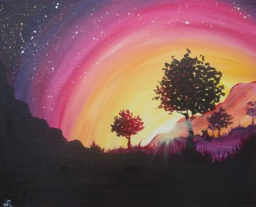 A Brilliant Sunset paint nite project by Yaymaker