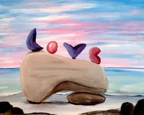 A Love on the Rocks II paint nite project by Yaymaker