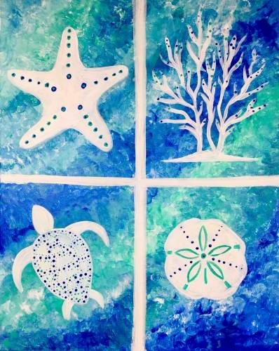 A Under The Sea III paint nite project by Yaymaker