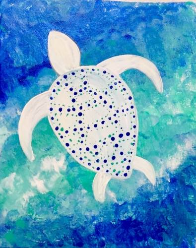 A Sea Turtle Seas paint nite project by Yaymaker