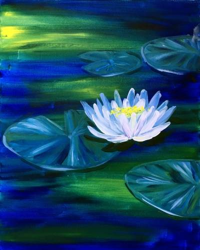 A White Water Lily paint nite project by Yaymaker