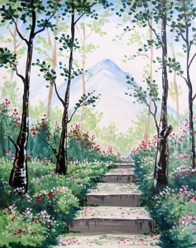 A Secret Stairway paint nite project by Yaymaker