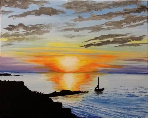 A Olcott Beach paint nite project by Yaymaker