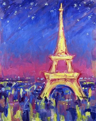 A Abstract Paris paint nite project by Yaymaker