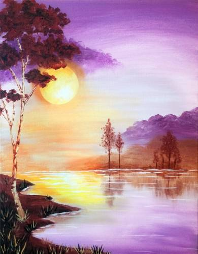 A Sunrise Lake paint nite project by Yaymaker