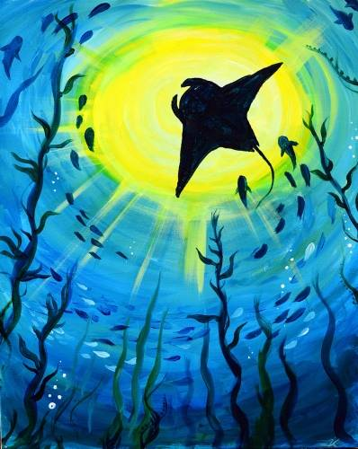 A Ocean Rays paint nite project by Yaymaker