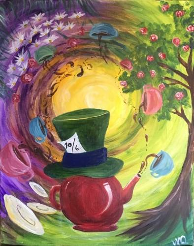 A Mad For Tea paint nite project by Yaymaker