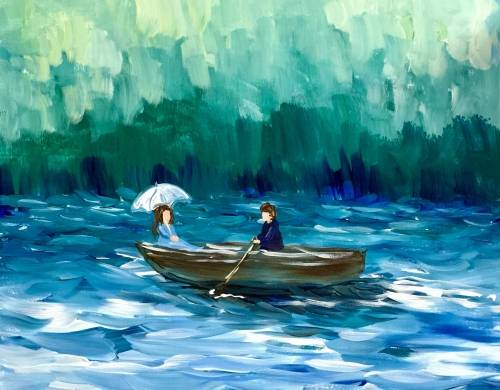 A Lady of the Lake paint nite project by Yaymaker