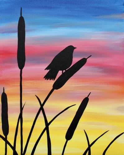A Bird in the Marsh paint nite project by Yaymaker