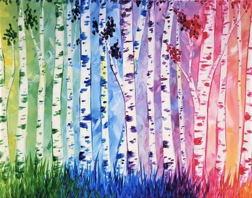 A Birches Be Crazy paint nite project by Yaymaker