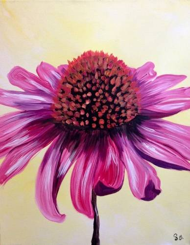 A Coneflower Pop paint nite project by Yaymaker