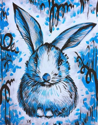 A Bunny Blue paint nite project by Yaymaker
