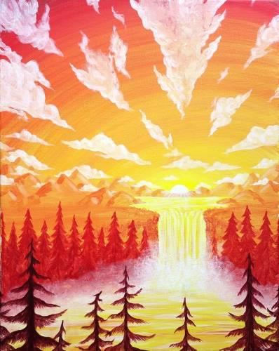 A Sunset Majesty paint nite project by Yaymaker
