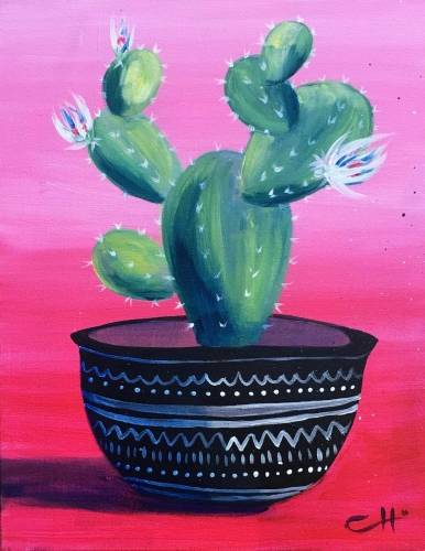 A Pink Cactus paint nite project by Yaymaker