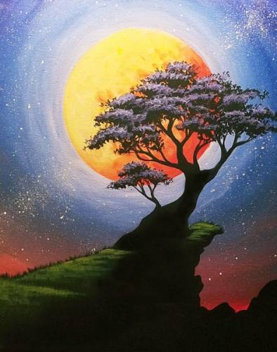 A Bonzai Moon paint nite project by Yaymaker