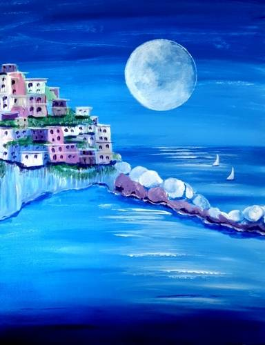 A Italy By The Sea paint nite project by Yaymaker