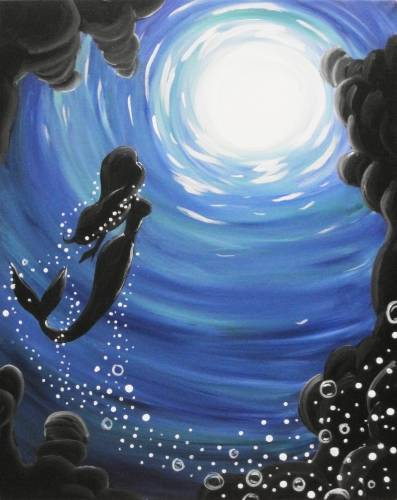 A Mermaids Calling paint nite project by Yaymaker