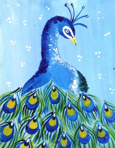 A Peacock Eyes paint nite project by Yaymaker