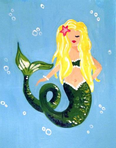 A Pearl the Mermaid paint nite project by Yaymaker