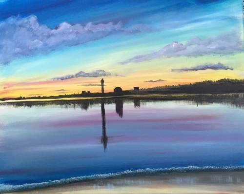 A P Town Tip paint nite project by Yaymaker