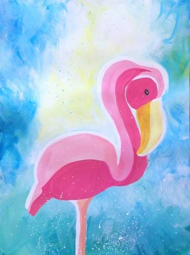 A Its Flamingo paint nite project by Yaymaker