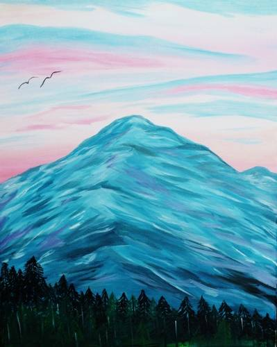 A Mount Hood paint nite project by Yaymaker