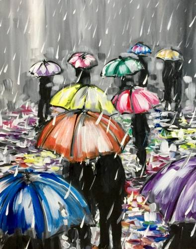 A Rainy Reflections paint nite project by Yaymaker