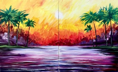 A Mental Vacation Partner Painting paint nite project by Yaymaker