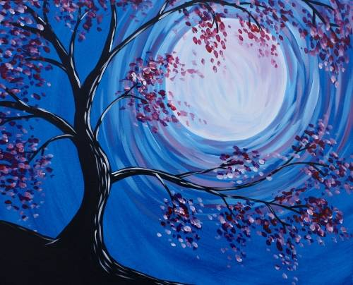 A Blossoms in the Moonlight II paint nite project by Yaymaker