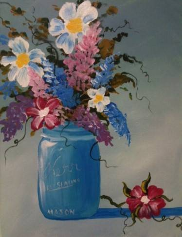 A A Jar Full of Spring paint nite project by Yaymaker