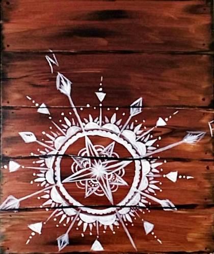 A Mandala Compass paint nite project by Yaymaker