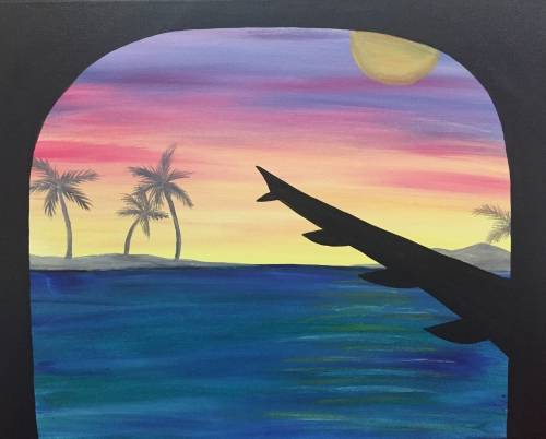 A Travel to Paradise paint nite project by Yaymaker