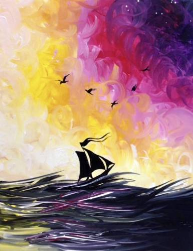 A Riders on the Storm paint nite project by Yaymaker