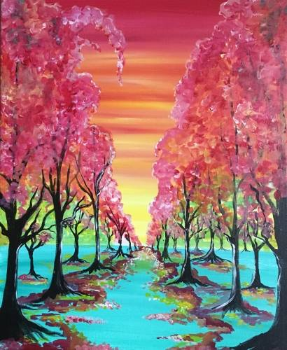A The Colorful Path paint nite project by Yaymaker