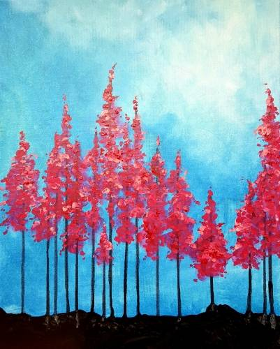 A Vibrant Forest paint nite project by Yaymaker