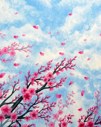 A Blossoms on the Wind V paint nite project by Yaymaker