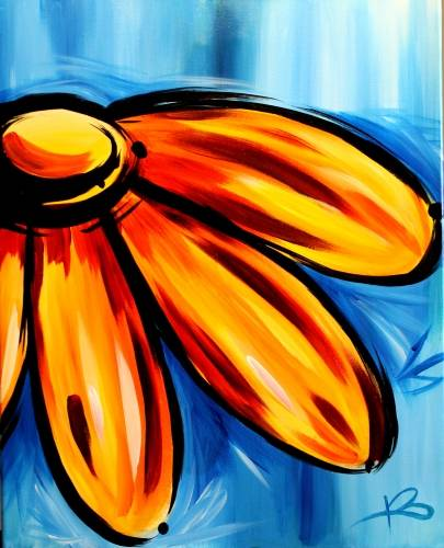 A Spring Daisy ll paint nite project by Yaymaker