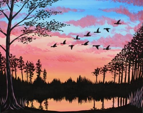 A Back to the Pond paint nite project by Yaymaker
