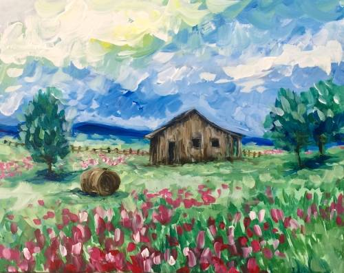 A Impressionist Countryside paint nite project by Yaymaker