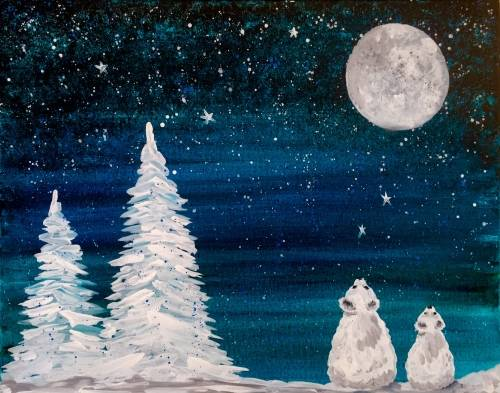 A Snow Bears paint nite project by Yaymaker