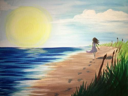 A Sunrise Beach Wanderer paint nite project by Yaymaker