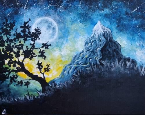 A Mighty Mountain paint nite project by Yaymaker