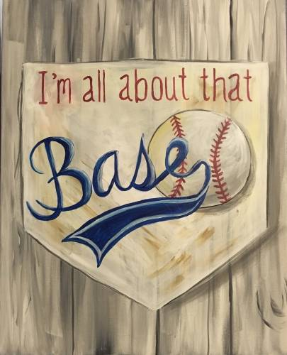 A Im All About That Base paint nite project by Yaymaker